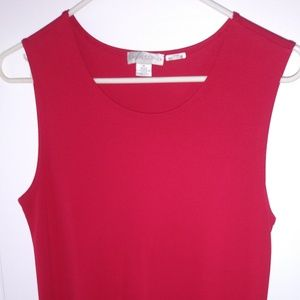 CASUAL CORNER bright Red Sleeveless Tunic Tank Top